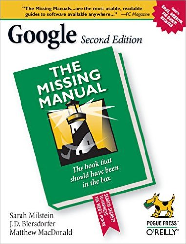 Cover of Google: The Missing Manual 2nd Edition