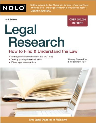 Cover of Legal Research: How to Find & Understand the Law Kindle Edition