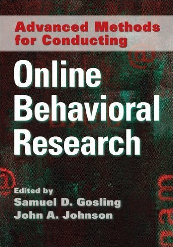 Cover of Advanced Methods for Conducting Online Behavioral Research 1st Edition