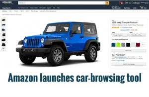 Amazon launches car-browsing tool