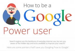 HOW TO BE A GOOGLE POWER USER #INFOGRAPHIC GOOGLE SEARCH OPERATORS