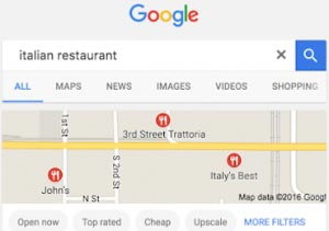 How does Google determine my local ranking?