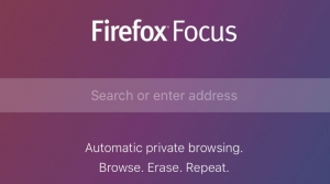 Firefox Focus with private browsing launched for iOS devices
